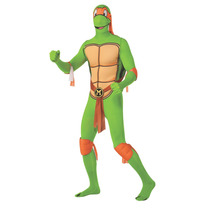 Disfraz De Tortuga Ninja - Mediano Hombre Leonardo 2° Piel