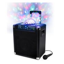 Caixa Portátil Amplificadora De Som S/fio Com Luzes P/festa