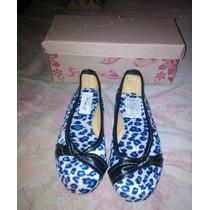 Zapatos Zapatillas Toreritas Niñas Animal Print Moda