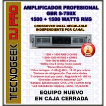 Potencia Amplificador Profesional Gbr S750 3000w Sin Interes