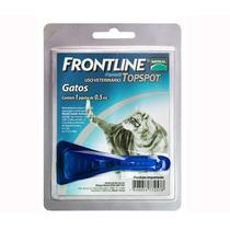 Kit Com 02 Frontline Top Spot Gatos Anti Pulgas E Carrapatos