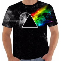 Camisa Camiseta Pink Floyd Dark Side Moon Gilmour Waters 3
