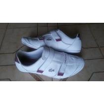 Zapatos Lacoste Blanco Para Caballero 100% Original