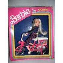 Boneca Barbie Ciclista Da Estrela Na Caixa.