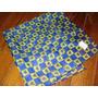Gatito Azul Amarillo Con Corazones!