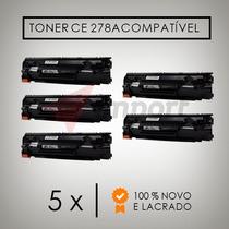 Kit 5 Toner Compatível Hp Ce278a Hp1606 1566 1536 100%novo