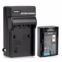 Kit Bateria Fh50 + Carregador Np-fh50 Câmera Sony Dsc-hx200v