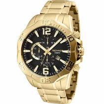 Relógio Masculino Technos Cronógrafo Legacy Dourado 10 Atm