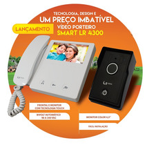 Vídeo Porteiro Lcd Líder Color Slim - C007