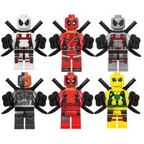 Deadpool Rojo Blanco Amarillo Deathstroke Compatible Lego