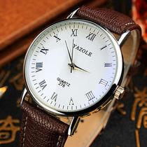 Relógio Masculino? Fundo Branco - Números Romanos - Barato