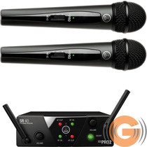 Microfone Sem Fio Duplo Akg Wms40 Mini 2 Garantia Harman Br