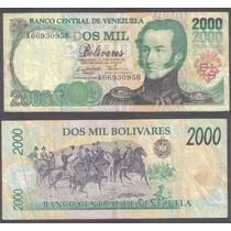 Billete Venezuela 2000 Bolivares 1995