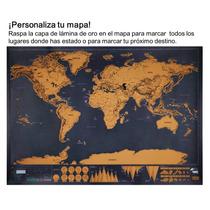 Poster Mapa Mundial Viajeros Y Mochileros Scratchmap Rascar
