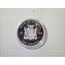 Zambia 1000 Kwacha 1999 Encapsulada Flor De Cuño 10 Euro