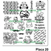 Placa Para Sello Kitty, Baby Path French Diseño Uñas Op4