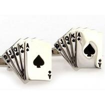 Mancuernillas Flor Imperial Cartas Juegos De Azar Casino