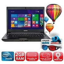Notebook Positivo Unique S1991i 3d Dual Core 2gb 320gb