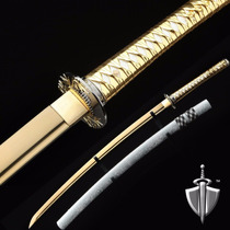 Espada / Katana Auway 40 Pulgadas Samurai Bambu Oro Completa