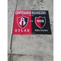 Bandera Del Centenario Del Atlas Rojinegros Zorros Academia