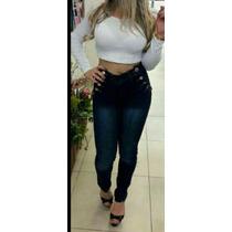 Calça Jeans Feminina Cintura Alta, Hot Pants, Levanta Bumbum