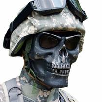 Careta Tactica Gotcha Militar Airsof Calavera Negro D1004