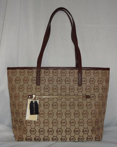Michael Kors, Bolso Tipo Barco, Ocre Y Cafe