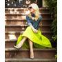 Polleras Faldas De Tafeta Importada - El Color Que Quieras!