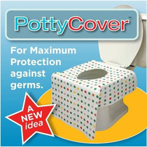 Pottycover - Asiento De Inodoro Desechables Cubre. (6 Asient