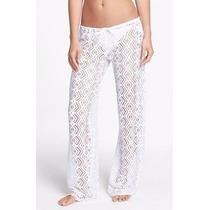 Becca Pareo Pantalon Crochet Blanco Unitalla