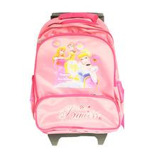 Morral Maleta Rodante Infantil Niñas Rosa Motivo Princesas