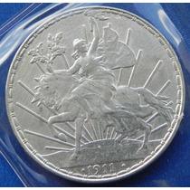 Moneda Mexico $1.00 Peso 1911 Caballito S/circular Plata