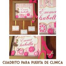 Cartel Nacimiento Recien Nacido Puerta De Clinica