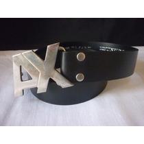 Cinturon Modelo Ax Armani Cuero Legitimo Super Oferta