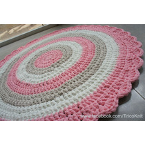 Alfombra De Totora Tejidos Al Crochet 1mtro De Diámetro