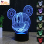 Mickey Mouse 3d Acrylic Led Night Light Touch Switch Desk