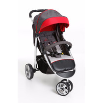 Carrinho De Bebê 3 Rodas Galzerano Apollo Grafite E Vermelho