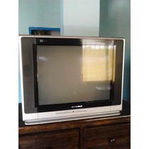 Televisor Cyberlux Usado 21 Negro Con Plateado + Control