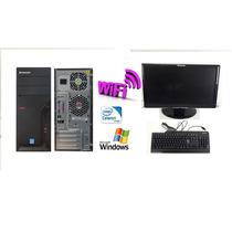 Computador Completo Cpu Desktop 2.0ghz 1gb 80gb Tela 18,5