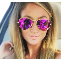 Ray Ban Aviator Color Barbie Pink Rosa Aviador 3025