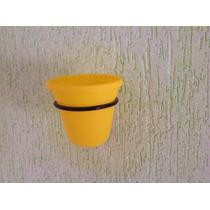Suporte + Vaso De Parede Com Vaso Plástico Várias Cores