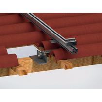 Estrutura De Fixação 4 Placas Fotovoltaicas Em Telhado Barro