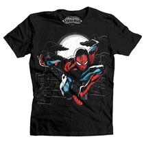 Playera Ny Swinger Mascara De Latex Marvel Spider Man