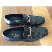 Sapato Salvatore Ferragamo Original Preto Masculino