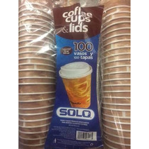 Caja De 500 Vasos Para Cafe Desechables Con Tapa 12oz