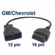 Cable Adaptador Gm Chevrolet 12 A 16 Pines Obd2 Verificacion