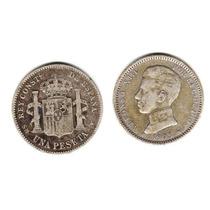 Moneda España De Plata Año 1903 De 1 Peseta Alfonso Xiii