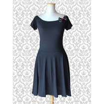 Vestido Pin Up Modal Negro
