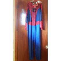 Fantasia Do Homen Aranha Com 1.31cm Compr-tam.9/10 P/entrega