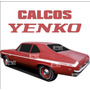 Calco Cupe Chevy Yenco Franjas - Calcomania Ploteoya!